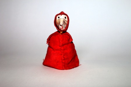 Little Red Cap. Wire armature puppet