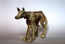 The Not-So-Wicked Wolf. Wire armature puppet
